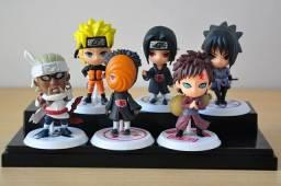 Título do anúncio: Kit 6 bonecos Naruto Itachi Sasuke Killer Bee Tobi e Gaara