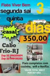 Promoção aluguel temporada em Cabo frio