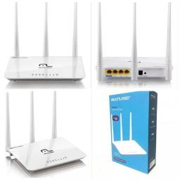 Aparelho roteador wifi multilaser 300 mbps 3 antenas
