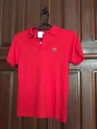 Camiseta infantil Lacoste - tam. 10 anos