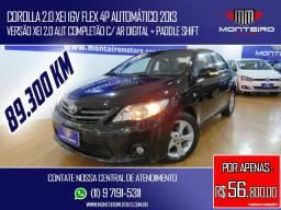 Toyota Corolla 2.0 XEI 16v Flex 4p Automático Completo C/ Paddle Shift 89.300 Km
