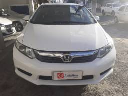 Honda/ Civic Lxs Aut ano 12/13 cor branca completo