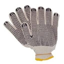 Luva de malha tricotada/pigmentada preta/branca