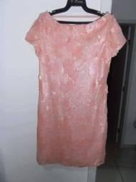 Vestido rosa seco