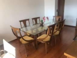 Mesa de jantar - Tampo de vidro