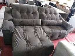 Sofa 2,50 retrátil e reclinável com molas ensacadas