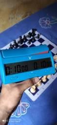 Jogo de Xadrez Marshall Pesado + Relógio Leap