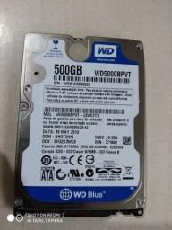 HD 500gb + memória 4 GB DDR3 L notebook