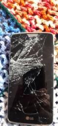 Smartphone LG k8 k 350 tela quebrada