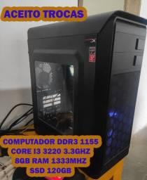 PC i3 + 8gb + SSD 120gb (preço na descrição)
