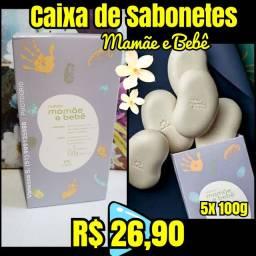 Caixa de Sabonetes natura mamãe e bebê (5 de 100g cada)