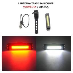 Lanterna traseira dianteira Bike biciclera 2 cores branco e vermelho 100 lumens