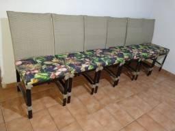 6 Cadeiras de Junco Seminovas usadas por 6 meses. Novíssimas R$999,00