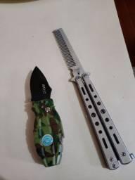Canivete granada + pente canivete borboleta