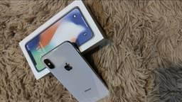 Iphone X silver desbloqueado para qualquer operadora
