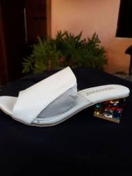 Sandália Salto Cristal Colorido