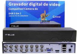 Gravador Digital DVR 16 canais 5WP 1080P Full HD It-Blue Mod: SC9516