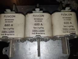 Fusível 600A 500V fusicon 3pecas