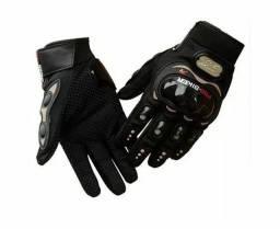 Luva de moto para motociclista/ciclista com proteções dedos