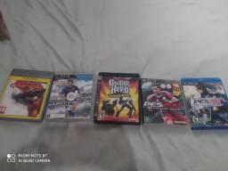 Vendo 5 jogos de Playstation 3 original blu-ray
