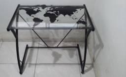 Mesa Escrivaninha em Vidro e Metal