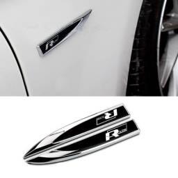 Emblema Lateral Rline Vw Golf Polo Virtus Up Jetta Tiguan Fusca Gol Amarok Saveiro