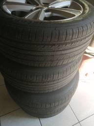 Vendo pneus com aro 17, pneus 225 x50 x17