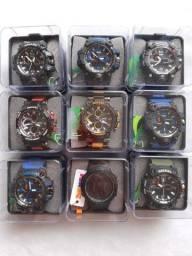 Título do anúncio: Relógio Smael Original Analógico e Digital Prova de Água Funcional Militar Tático Cores