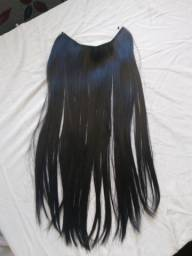 Aplique mega hair tiara invisível 120g preto