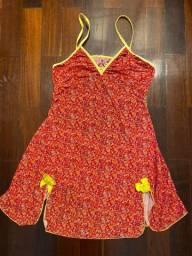 Camisola Baby Doll Vermelha - Tamanho M