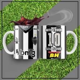 Canecas do Atlético Mineiro Uniformes 1 e 2