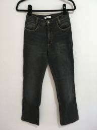 Calça flare jeans italiana