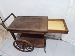Carrinho de chá antigo madeira nobre