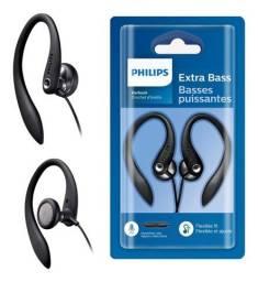 Fone Philips Com Microfone e Gancho Para Orelha
