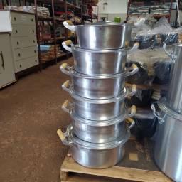 Panelas grande industrial alumínio batido