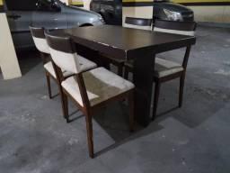 Conjunto de Jantar. Mesa + 4 Cadeiras. Mobiliadora Lider! Móveis de Qualidade. Leia!