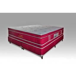 Conjunto Magnético Absoluto Prime Vermelho Vibro e Massageador Queen 158X198X40