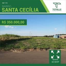 Título do anúncio: Terreno Comercial para Venda Penápolis / SP Residencial Santa Cecília (827,08 m²