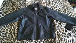 Jaqueta de couro puro original e blusa de lã unglyman barateza