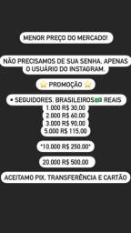 Título do anúncio: Vendo seguidores brasileiros e reais para seu insta