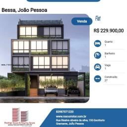 Título do anúncio: Flat para Venda em João Pessoa, Bessa, 1 dormitório, 1 banheiro, 1 vaga