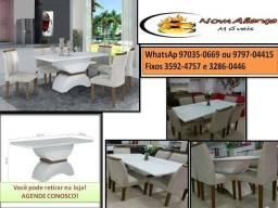 Mesa com 6 cadeiras Athy what97035-0669 receba rápido retire n loja Vários  modelos 00b7c76003