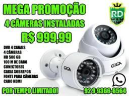 Mega Promoção Kit Completo e instalado de cameras de segurança GIGA f353873aaf6f5