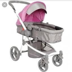 Carrinho de bebê Kiddo Aspen Cinza/Rosa, usado comprar usado  Maceió
