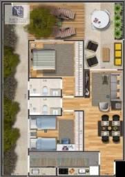 Apartamento com 2 dormitórios à venda, 69 m² por R$ 382.000,00 - Nova Gerti - São Caetano