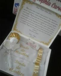 Caixa Convite Batizado Padrinhos