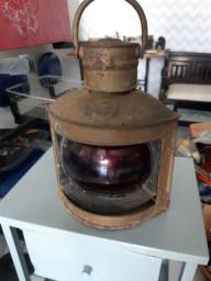 Lanterna maritima antiga cobre estarboard