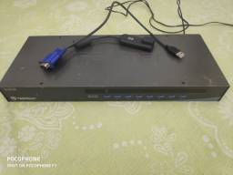 Chaveador Kvm Switch 8 Portas Usb Tk-803r S/cabos Trendnet<br><br>