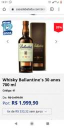Whisky Ballantines 30 anos  valor 1000R$