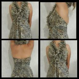 Vestido Fino Estampa print M - Único